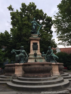 Lindavia-Brunnen fountain, close to the Stadttheater