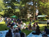 During the Science Picnic on the Arboretum Lawn (Mainau)
